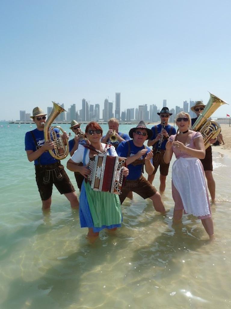 Xelchten am Strand in Doha (Katar) 2009-2012